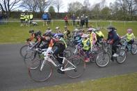 Schools racing action